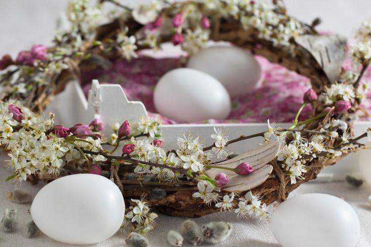 Na velikonočním věnci se krásně vyjímají třešňové květy. Letos se jich však včas nedočkáme.