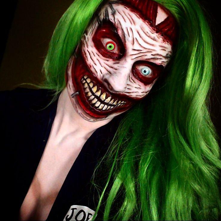 Joker cosplay and makeup Halloween horror IG: TheTrashMask