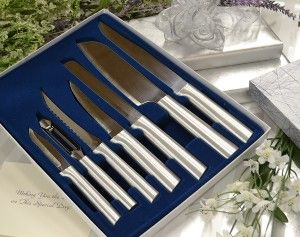 Wedding Starter Gift Set...perfect for newlyweds and is 100% made in the USA. #weddinggifts #cutlery