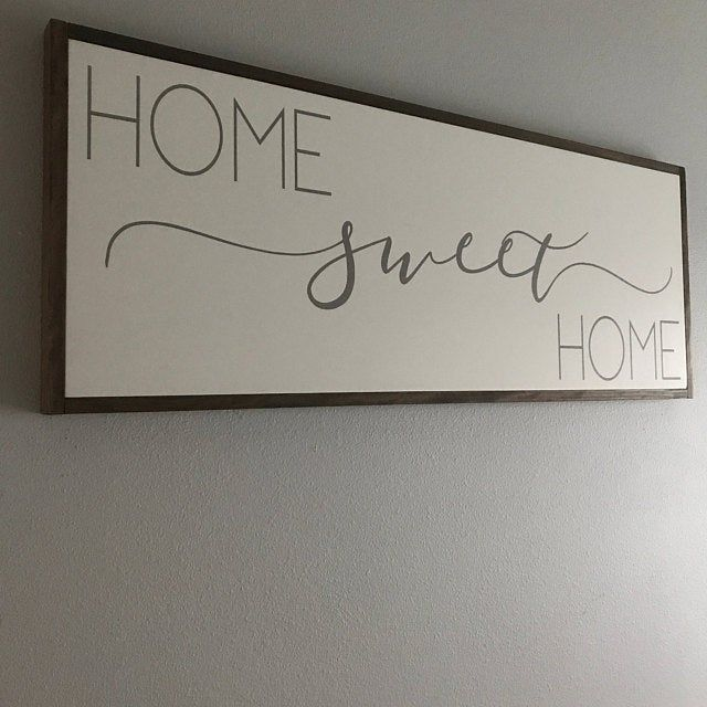 Home Sweet Home Sign | Above Couch Sign | Living Room Signs | Home Sweet Home Wood Sign | Family Room Signs