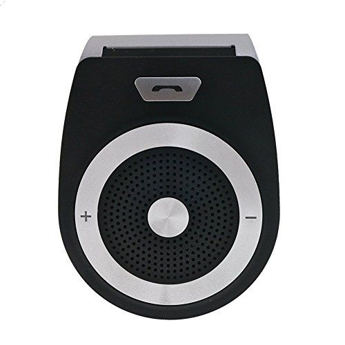 AMAKE Wireless Bluetooth 4.1 Car Speaker Player Receiver Sun Visor Car Charger Speakerphone Car Stereo Hands-free Bluetooth Speakerphone Adapter Car Kit with Mic for iPhone 7/Plus Samsung Support Siri. For product info go to:  https://www.caraccessoriesonlinemarket.com/amake-wireless-bluetooth-4-1-car-speaker-player-receiver-sun-visor-car-charger-speakerphone-car-stereo-hands-free-bluetooth-speakerphone-adapter-car-kit-with-mic-for-iphone-7plus-samsung-support-siri/