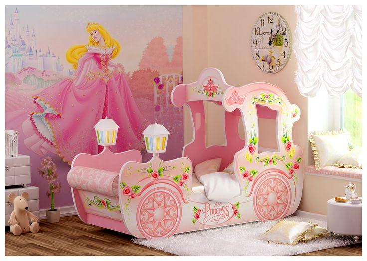 Кровать Карета розовая Арт. 6568 Где купить. Детская мебель для мальчика| Купить детскую кровать машину (машинки) в Санкт-Петербурге