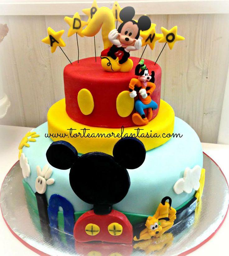 #Mickey #mouse #cakes #Torte #Decorate #Castelli #Romani Torte Amore & Fantasia  www.torteamorefantasia.com