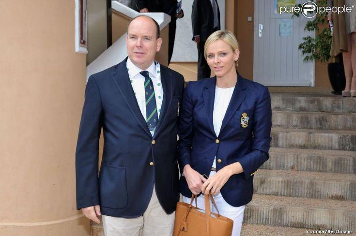 La princesse Charlene de Monaco accompagnait le 20 avril 2013 le prince Albert au Masters de Monte-Carlo à l'occasion des demi-finales du tournoi, opposant Nadal à Tsonga, et Djokovic à Fognini.