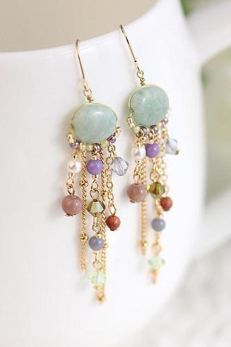 Beaded earrings idea