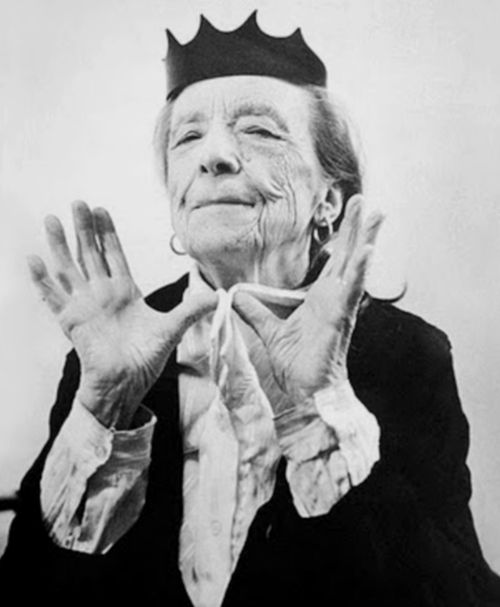 Louise Bourgeois shot by Bruce Weber for Helmut Lang F/W 1997/98 ad campaign