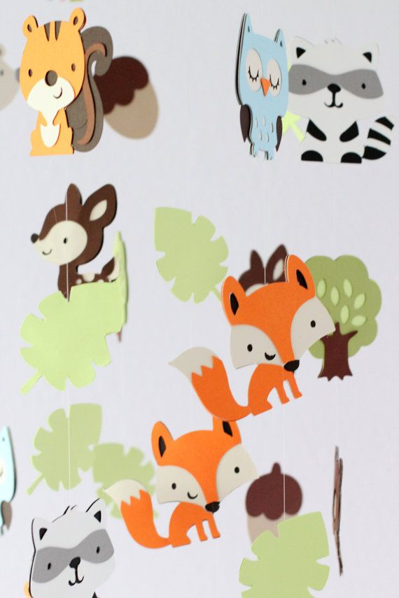 Forest Friends Nursery Mobile Decoration by LoveBugLullabies, $75.00