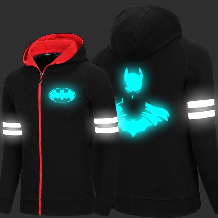Luminous Batman Superman Cardigan Fashion Hoodies //Price: $53.5 & FREE Shipping //