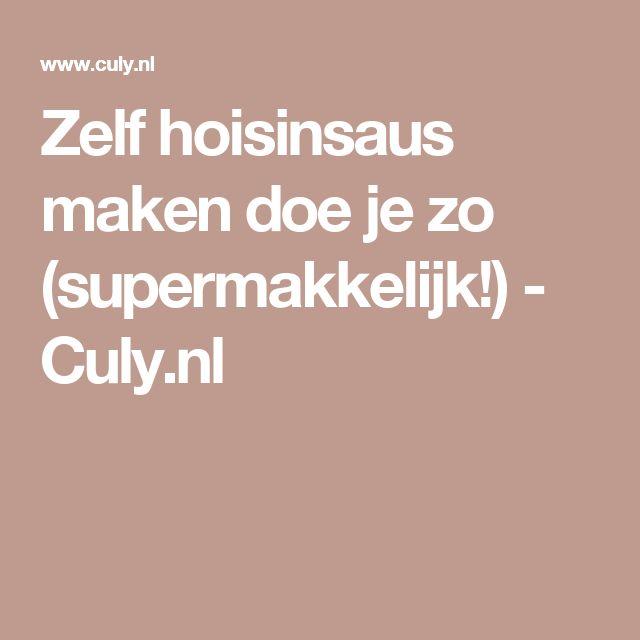 Zelf hoisinsaus maken doe je zo (supermakkelijk!) - Culy.nl