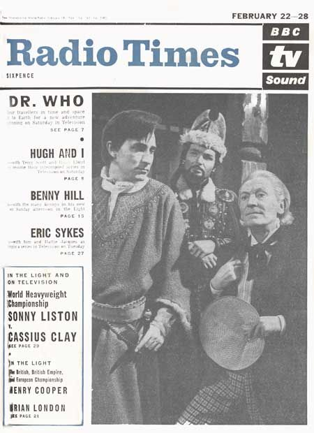 The first Doctor (William Hartnell) and the first Radio Times cover