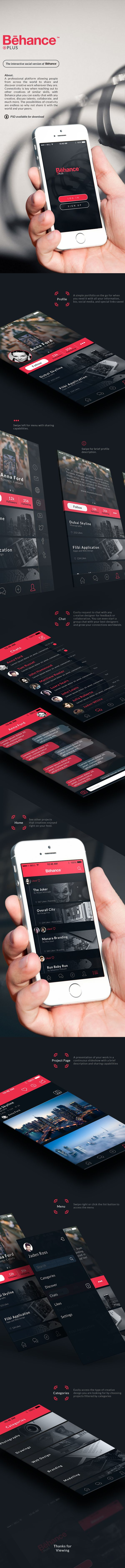 Behance Plus - App Design Concept | Abduzeedo Design Inspiration