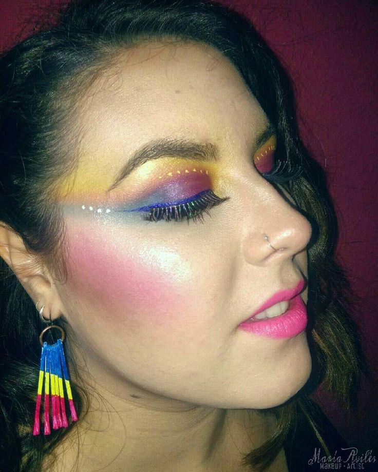 Maquillaje inspirado en los años 80. María Avilés, Maquilladora Profesional - Makeup Artist en Málaga Model&MUA: @marikiyia