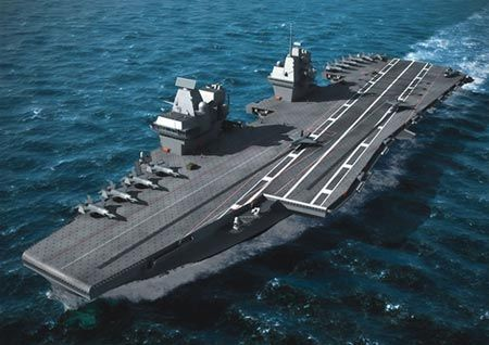 Concept art showing what the INS Vishal may look like. (Internet photo)
