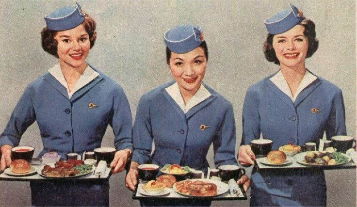 vintage stewardess | This is what dinner in economy class looked like on Pan Am in the ...