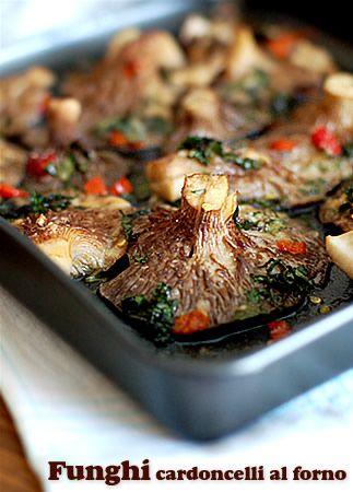 Funghi cardoncelli al forno