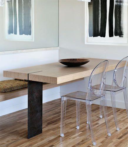 Mesa Fixa Parede ~ 17 melhores imagens sobre Salas de Jantar com Banco (de futon, tipo baú, com fundo para apoio da