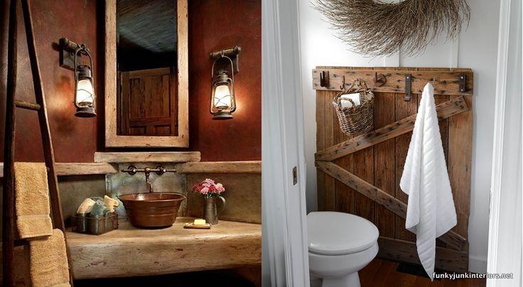 17 meilleures id es propos de salles de bains chic for Deco salle de bain rustique