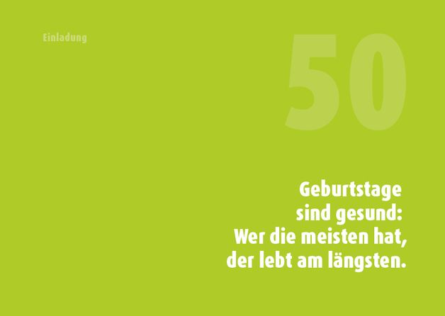 Einladungskarten - Einladung 50. Geburtstag (Weisheit ...