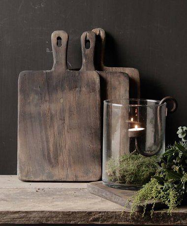Oud houten broodplank