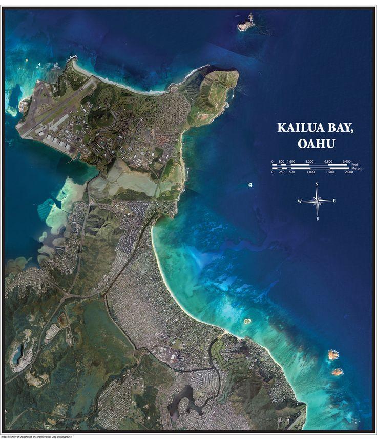 Kailua Hawaii | Poster - Kailua Bay, Oahu | Hawaii Coastal Geology Group