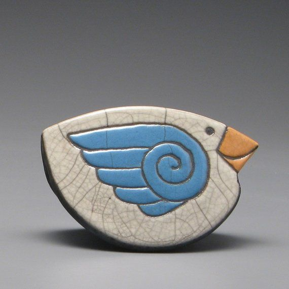 bird design pottery ceramics clay
