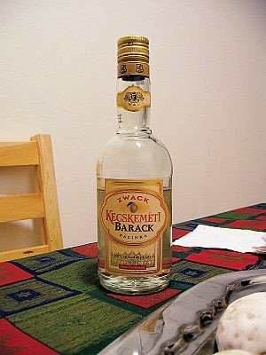 A bottle of Barak Palinka (Apricot Brandy), a typical Hungarian drink, from Zwack. Supermarket version