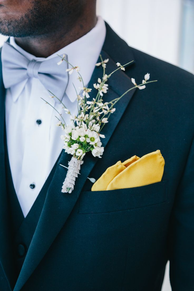 2014 Wedding Trends | Styled Grooms | Boho Inspired Boutonniere