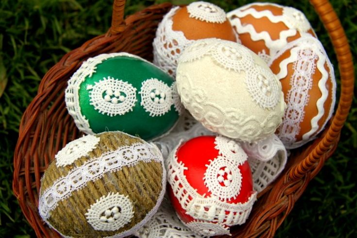 Krajková velikonoční vajíčka - Testováno na dětech