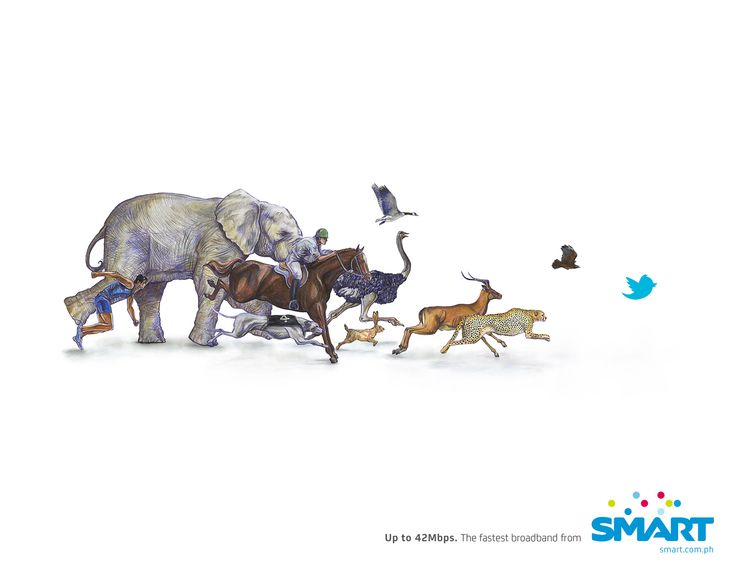 Marca: Smart. Campaña: Up to 42Mbps. Agencia: DM9JaymeSyfu, Manila, Filipinas.