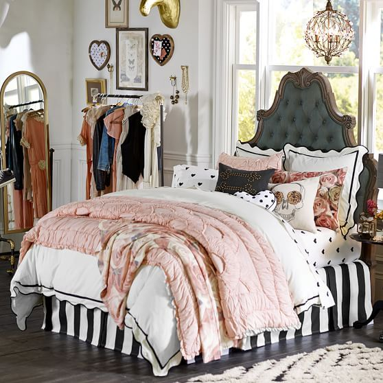 The Emily Meritt Circus Stripe Bedskirt Room Ideas Home