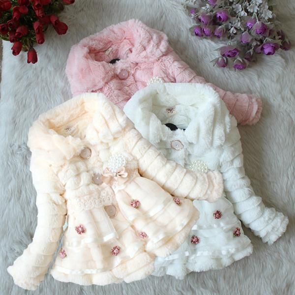 Kids Clothing Baby Girls Faux Fur Fleece Pageant Coat Winter Jacket Xmas Party Snowsuit-in Jackets & Coats from Mother & Kids on Aliexpress.com | Alibaba Group