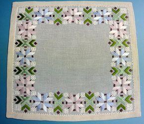 Ropa de bordado hecho a mano de costura plana verde Vintage