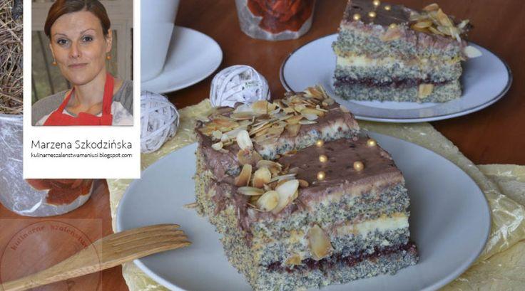 przepis na ciasto z makiem i kremem budyniowym