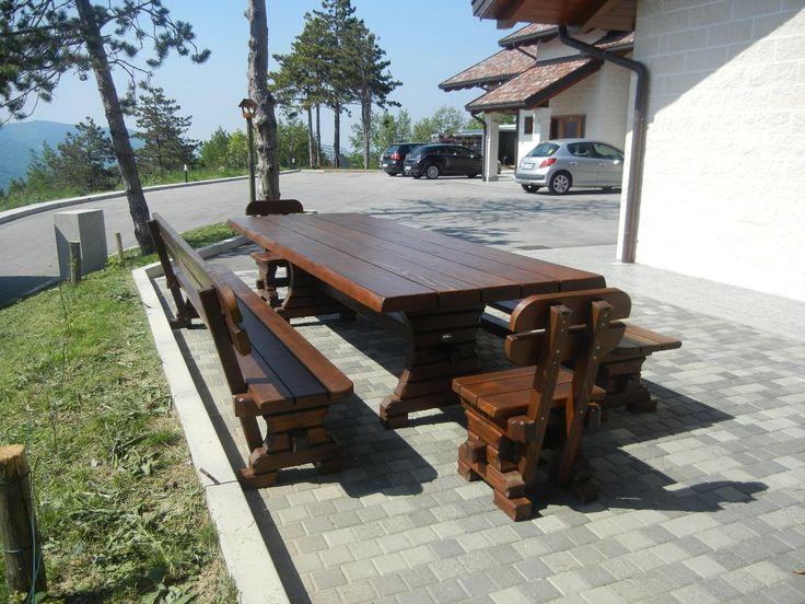 Garden furniture set out of OAK!
