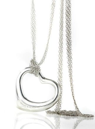 Tiffany co 126 pinterest tiffany co tiffany co sterling silver elsa perettir open heart pendant necklace 34 off retail mozeypictures Choice Image