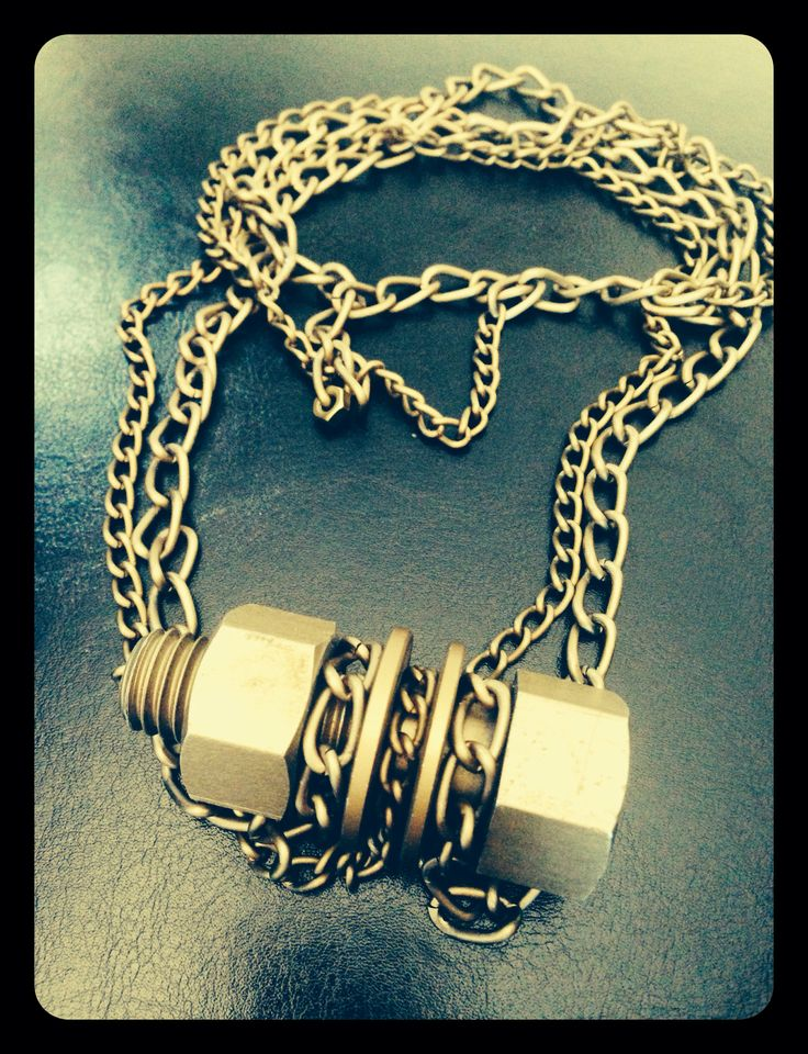 It's bolted... It's nuts... Its dusty but it's #gold It's #dope it's a double #chain #jewelery So be bold and wear it wit style... Be the #unique you