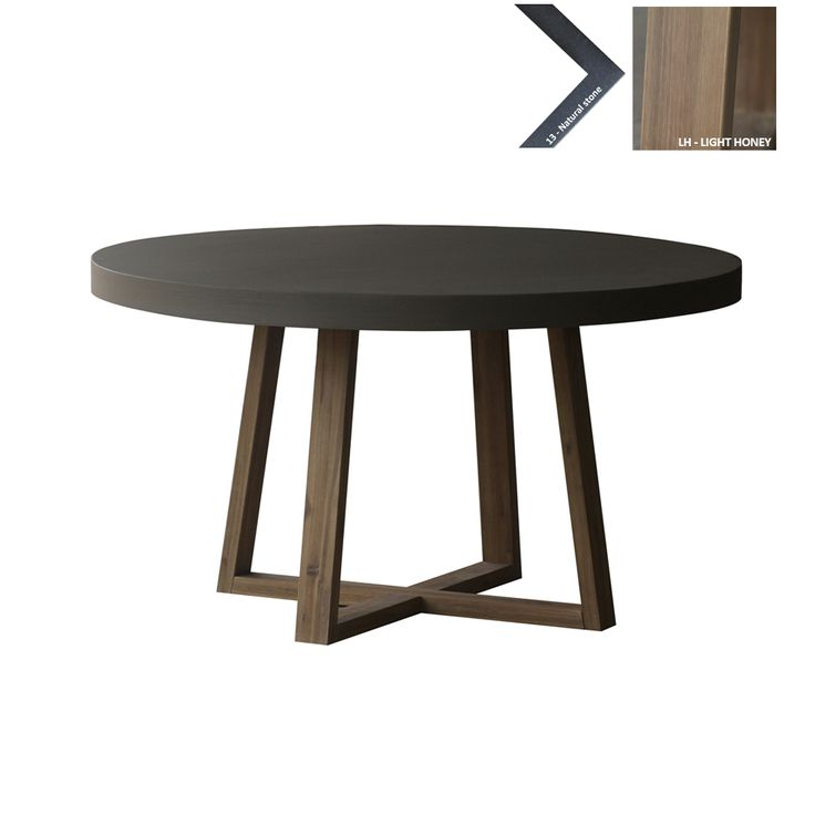 Ronde eettafel beton 140cm ronde tafel pinterest for Table ronde 140 cm