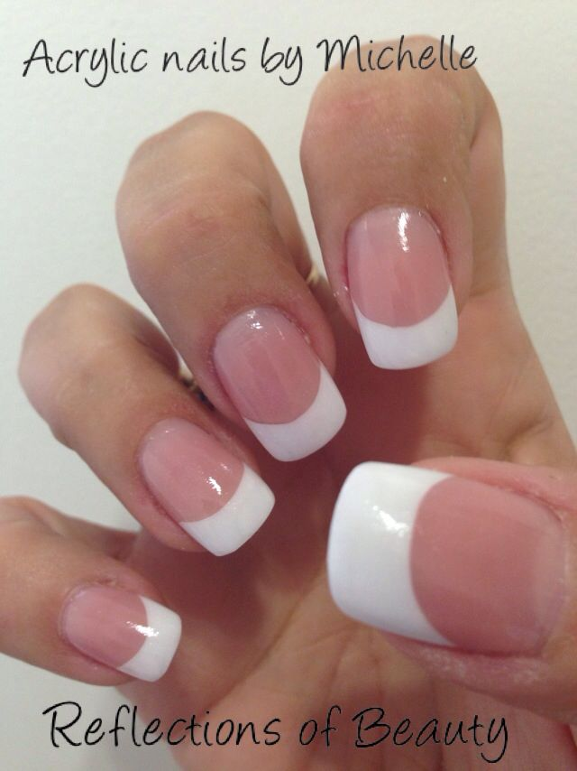 French acrylic nails by Michelle at Reflections of Beauty