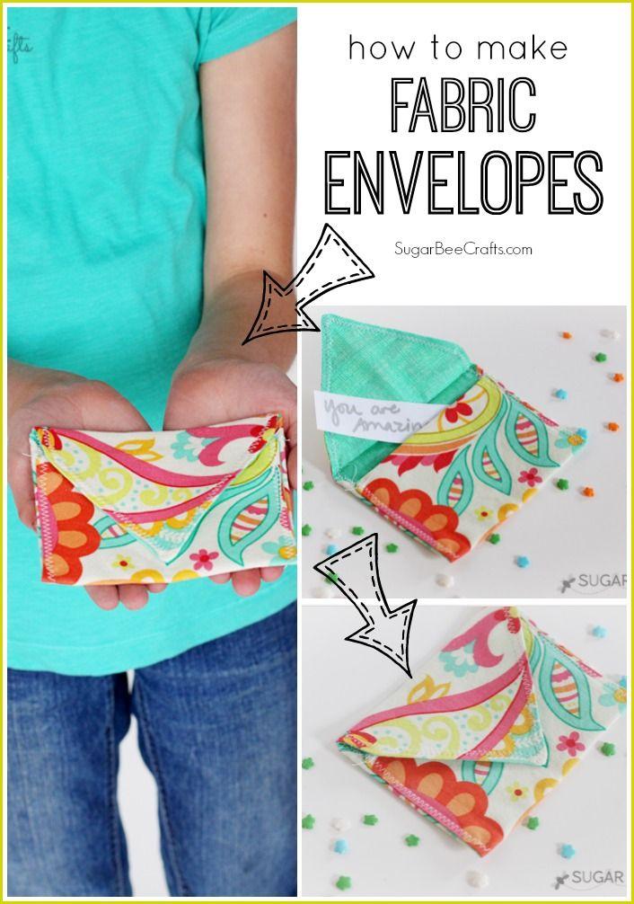 Fabric Envelopes - Sugar Bee Crafts