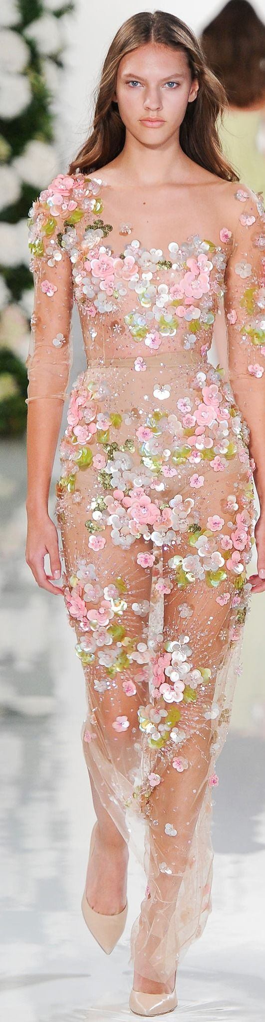 can I have some dress under the flowers?