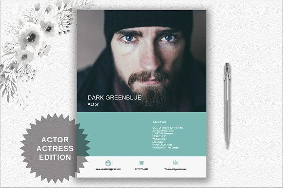 Actor/Actress Resume Template | Word  @creativework247