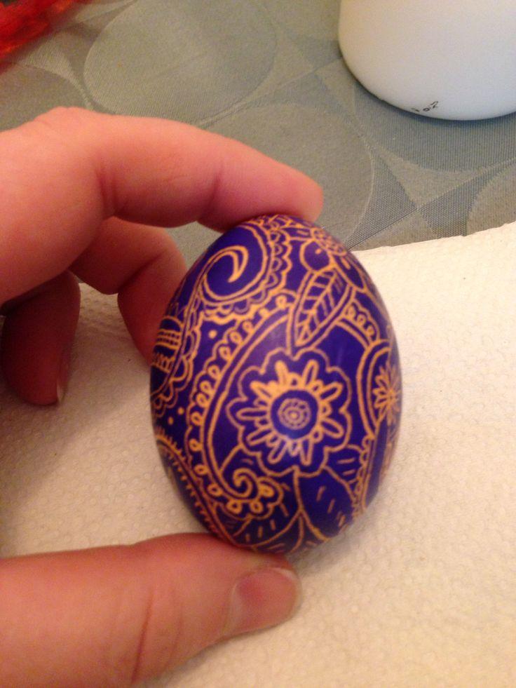 Ukrainian egg. Purple.