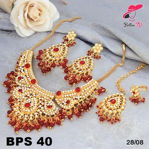 Set Perhiasan Xuping Utaran Permata Zamrud Lapis Emas 18k PS 40