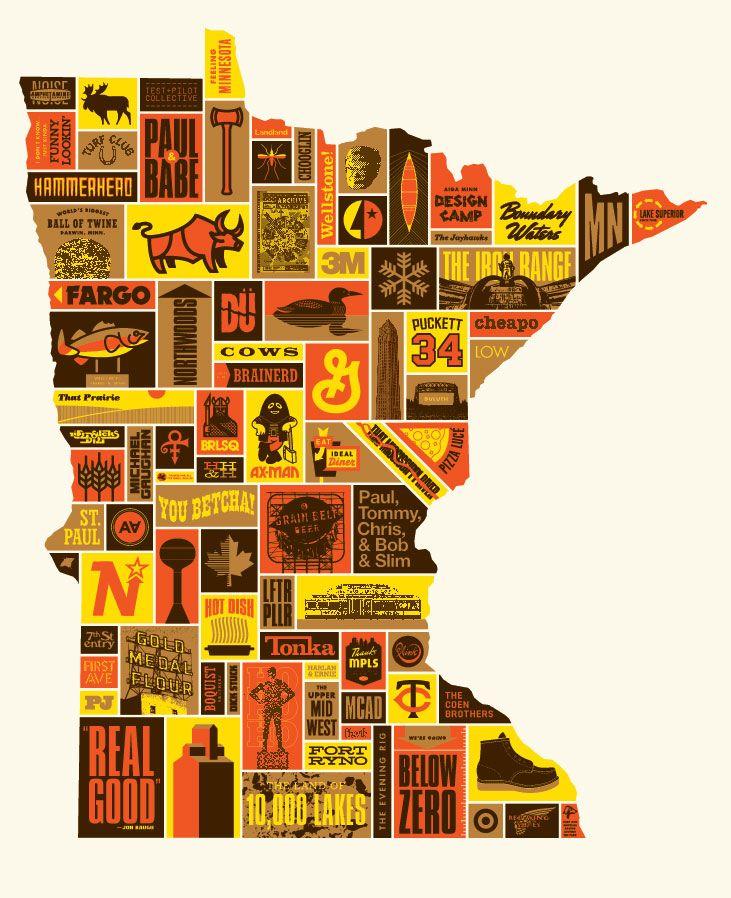 Minnesota Poster by Burlesque Design & Draper Design. So true.