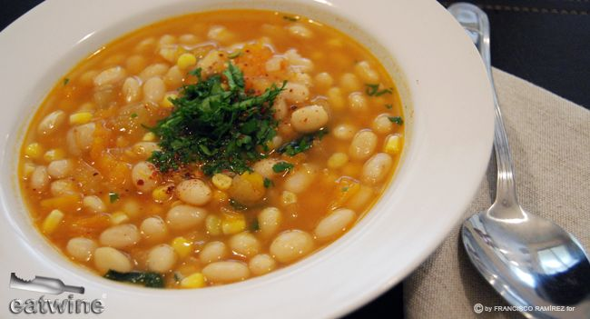Cranberry Bean, Pumpkin and Sweet Corn Soup