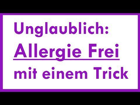 Robert Franz Was kann man gegen Allergien tun? - YouTube