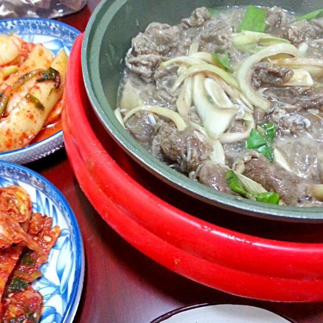 今日も朝からフルパワーチャージで行ってきま~す♪ - 47件のもぐもぐ - 義母の韓国家庭料理 プルコギ定食 Mother's home made korean food called bulgogi 불고기 by shino4minutes