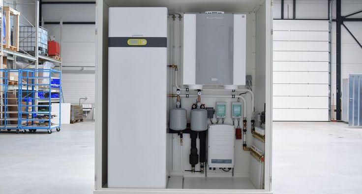 Prefab installatiekast voorziet woning het hele jaar van duurzame energie en warmte