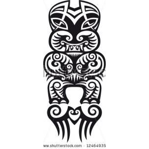 Taniwha the monster stock illustration