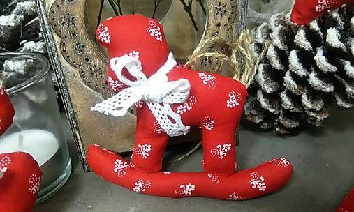 domivecicky / Šitá ozdoba na vianočný stromček Koník